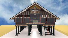 Animasi Rumah Aceh Menggunakan Blender 3D