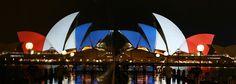 Opéra de sydney Australie - Hommage attentat 13 novembre 2015 Paris 2