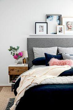 charming bed design - Schlafzimmerideen Des Mannes Grau