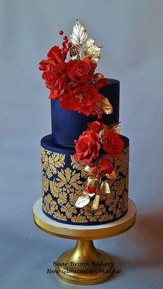 Gorgeous Cakes, Pretty Cakes, Cute Cakes, Bolo Floral, Floral Cake, Unique Cakes, Elegant Cakes, Decors Pate A Sucre, Amazing Wedding Cakes