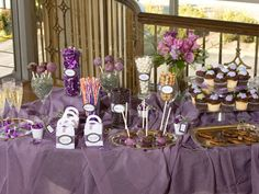 Favors anyone? A favor buffet/table allows guests to participate in selecting their own favors.