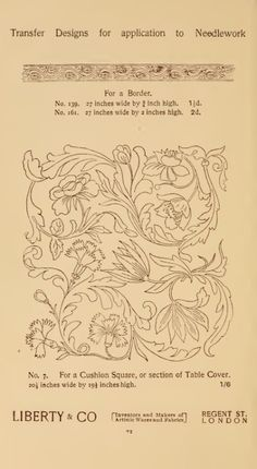 Designs for needlework Jacobean Embroidery, Embroidery Motifs, Hand Embroidery Designs, Applique Designs, Art Nouveau Illustration, Pattern Illustration, Lesage, Cross Stitch Flowers, Embroidery Techniques