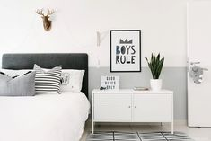 Boys Room- Ethan's Monochrome Room by House of Hawkes | Natelee Cocks