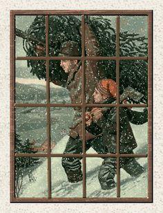 VENSTERS, kerstanimaties en kerstplaatjes bij Kerst bij Annemiek
