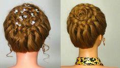 "Прическа с плетением ""Корзинка"". Circle braid. Braided hairstyle for ev..."
