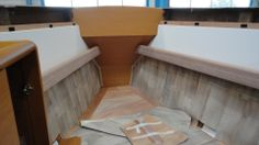 The forward cabin before the deck is added. Bay Of Biscay, Boat Building, Sailboat, Boats, Sailing, Deck, Cabin, Storage, Sailing Boat