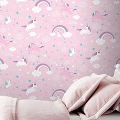 Pastel licorne arc en ciel coton Peach Rose Menthe Bleu-Abat-jour Nursery Childrens