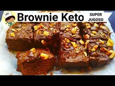BROWNIE KETO | CETOGENICO |SIN GLUTEN - YouTube Keto Brownies, Sin Gluten, Meatloaf, Cake Pops, Banana Bread, Menu, Cooking, Desserts, Food