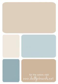 Color Board: Soft Blue & Beige | Design Boards    #beige #cream #softblue
