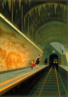 illustration (unknown artist) http://www.pinterest.com/railcolor/trains-illustrations-and-graphic-design/