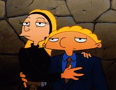 Arnold and Helga Are Secret Agents! Hey Arnold, Couple Cartoon, Cartoon Shows, Animated Cartoons, Cool Cartoons, Mirai Gohan, Cn Fanart, Arnold And Helga, Disney And Dreamworks