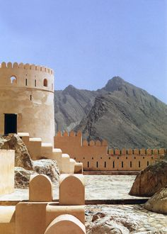 UNESCO World Heritage Site - Ruins of the Bahla Oasis (Nahki) Fort, OMAN dates from the 12th - 15th century
