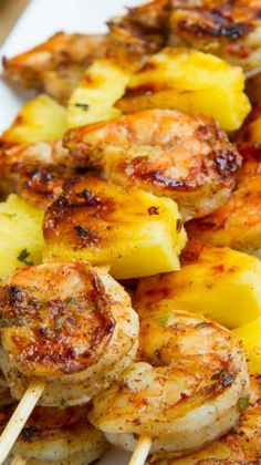Jerk Shrimp and Pineapple Skewers Fun and easy grill recipes to impress your guests. Grilled Jerk Shrimp and Pineapple SkewersFun and easy grill recipes to impress your guests. Grilled Jerk Shrimp and Pineapple Skewers Grilled Jerk Chicken, Jerk Shrimp, Marinated Shrimp, Grilled Skewers, Grilled Food, Shrimp Kabobs, Chicken Kabobs, Grilled Salmon, Meat Skewers