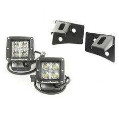 Looking for an alternate way to mount your lights? This kit includes two black windshield mounting brackets and two 3-inch square LED lights for optimal illumination on the trails.