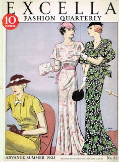1930s Excella Summer 1933 Quarterly Pattern Catalog 34 pg Ebook Copy on CD #Excella