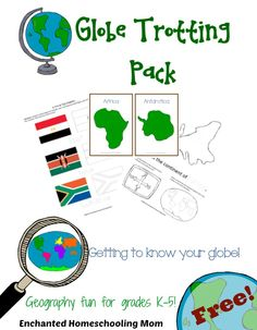 Globe Trotting Geography Pack - Enchanted Homeschooling Mom