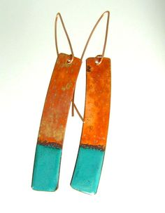 Enameled Earrings | Dianne Jacques | Jewelry Making Journal