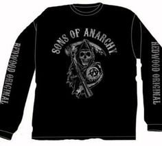 Amazon.com: Sons Of Anarchy Fear The Reaper Long Sleeve Black T-Shirt: Clothing