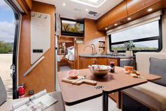 Explore the Unity Class C RV by Leisure Travel Vans. See photos, videos, floorplans and more of the compact, luxurious Unity, built on the Mercedes Sprinter Cab Chassis. Leisure Travel Vans, Rv Interior, Interior Decorating, Camping Con Glamour, Class C Rv, Maple Cabinets, Remodeled Campers, Rvs For Sale