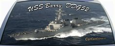 US Navy Destroyer USS Barry is DDG52 rear window graphic mural.