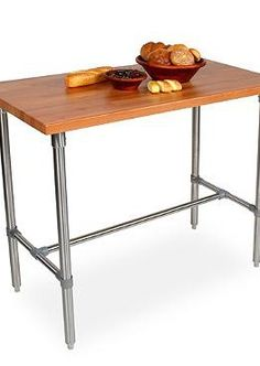 The John Boos Cherry Kitchen Work Table provides you with a sturdy and handsome cherry surface to prep for all your parties.