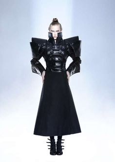 These futuristic fashions are the thesis work of Hungarian designer Eva Nyiri
