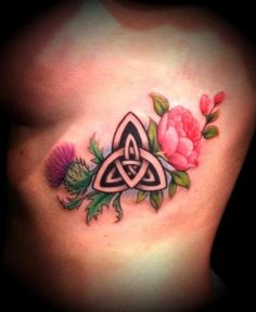 Scottish Thistle / Rose /  Celtic Knot---need to switch the rose to a star gazer…