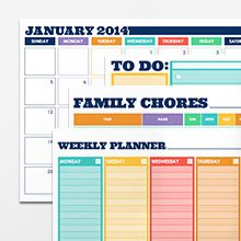 Family Chores and To Do forms | Print at Home Calendars | Make a 2014 Calendar |