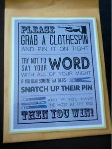 bridal shower clothespin game - Google Search