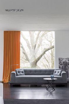 Copahome raamdecoratie. Marrakech overgordijn, gordijnen, raamdecoratie, oranje / rideau rideaux, Maroc, atmosphere, intérieur, fenêtre, décoration de fenêtre, orange