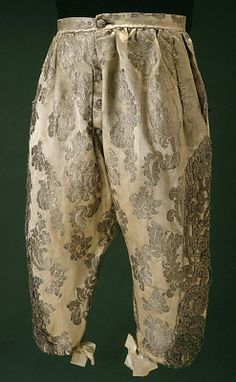 Breeches, part of a wedding suit, circa 1680 (Royal Armoury Collection, Sweden)
