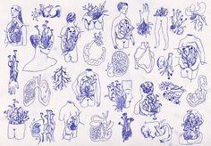Art Inspo, Kunst Inspo, Inspiration Art, Art And Illustration, Illustrations Posters, Art Sketches, Art Drawings, Art Amour, Poster Art