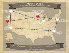 Free printable travel map  perfect for the traveling couple!