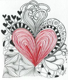 Zentangle hart