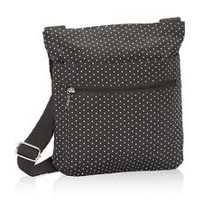 Thirty One Organizing Shoulder Bag in City Charcoal Swiss Dot - No Monogram - 3165 -- Click image for more details.