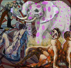 "New Media, ""Elephant in the Room"" Save The Elephants, Room Art, New Media, Saatchi Art, Studio, Artist, Artwork, Photography, Painting"