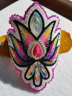 Latest Snap Shots Beadwork designs Tips Place worry can certainly produce a big effect on the way your rings looks. No-one hopes to shell out a long Native Beading Patterns, Beadwork Designs, Beaded Earrings Patterns, Seed Bead Patterns, Beaded Jewelry, Beaded Bracelets, Bead Earrings, Powwow Beadwork, Powwow Regalia