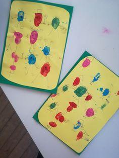 Des bonshommes ! Un peu de peinture sur les doigts, un stylo et tu peux créer tes personnages rigolos !