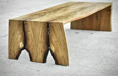 Live Edge Coffee Table Folded Bole Custom by brandMOJOinteriors