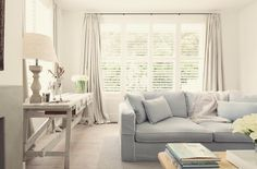 Image result for shutters and curtains together