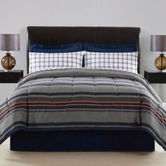 E Studio Thompson Stripe Complete Bed Set: Shopko