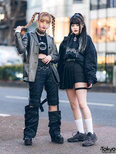 Tokyo Girls Streetwear w/ Hellgarden BKK, Drug Honey, Prada, (ME)Harajuku, Vetem. Japan Street Fashion, Korean Street Fashion, Tokyo Fashion, Harajuku Fashion, Harajuku Girls, Harajuku Style, Asian Street Style, Tokyo Street Style, Tokyo Style