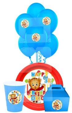 Daniel Tiger Party Pack Daniel Tiger Plate by lovebuggydesigns, $6.99