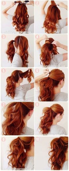 To Instantly Make Your Hair Look Thicker - Quick and Easy Ponytail Tutorial - DIY Products, Step By Step Tutorials, And Tips And Tricks For Hairstyles That Make Your Hair Look Thicker. Hair Styles Like An Updo Or Braiding And Braids To Make Your Hair About Hair, Up Hairstyles, Gorgeous Hairstyles, Medium Hairstyles, Long Haircuts, Pinterest Hairstyles, Curly Ponytail Hairstyles, Ponytail Hairstyles Tutorial, Office Hairstyles