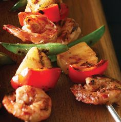 Eat these Asian Shrimp Kabobs right from the skewer or tuck the shrimp and veggies into wraps or toss in a salad.