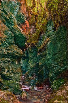 The beautiful little Slovenian gorge of Mostnica (Korita Mostnice)