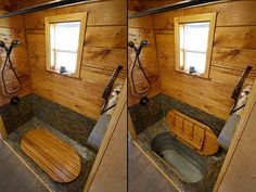 i wonder if different finishes would work in a home? Wind River Tiny Homes - Bathtub