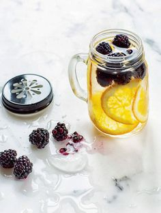 Idees de recettes d'eaux detox - Water detox oranges mures