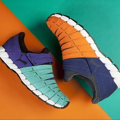 #PUMA Osu #colorblock #sneakers #shoes #style #run #orange #blue #bright #PUMALife