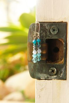 blue drop earrings @ Branching Fig
